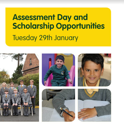 Assessment Day and Scholarship Opportunities Tuesday 29th January