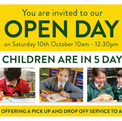 Open Morning – Saturday 10th October – Book your tour here